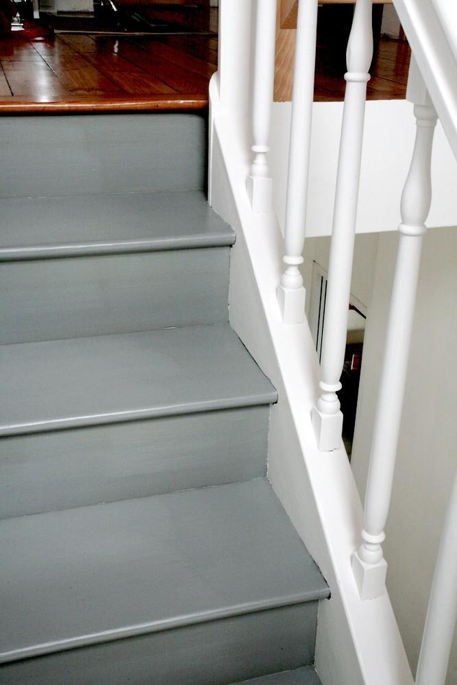 rénovation escalier vitrificateur opaque