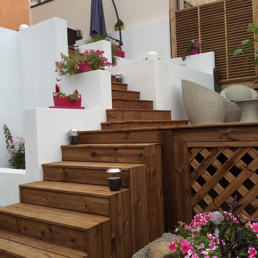 r alisation d une terrasse bois parquet tecknico. Black Bedroom Furniture Sets. Home Design Ideas