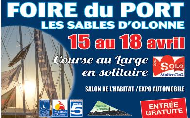 """Présent sur"""" la foire du Port"""" Les Sables D'Olonne  (Port Olonna) du 15 au 18 Avril (Stand n°150&151 )"""